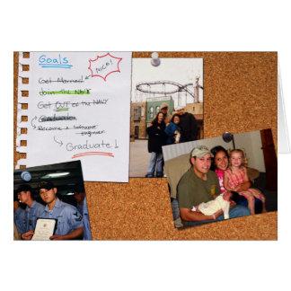 Tarjeta de la graduación de Andrew