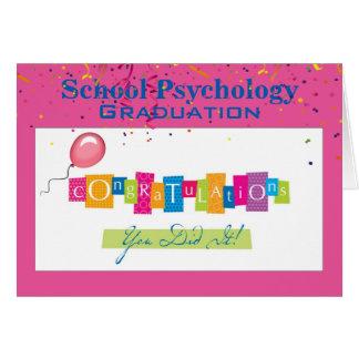 Tarjeta de la graduación de la psicología de la