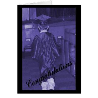 Tarjeta de la graduación de los hombres