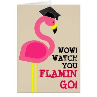 Tarjeta de la graduación del graduado del flamenco