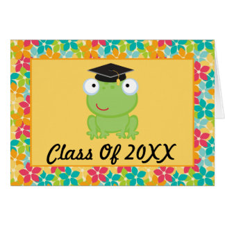 Tarjeta de la graduación del preescolar o de la ra