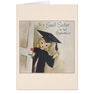 Tarjeta de la graduación del vintage para una