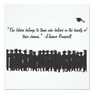 Tarjeta de la graduación invitación 13,3 cm x 13,3cm