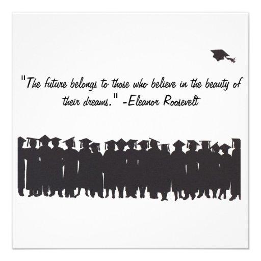 Tarjeta de la graduación comunicado