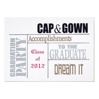 Tarjeta de la graduación invitación 12,7 x 17,8 cm