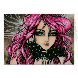 "Tarjeta de la hada de ""Genevieve"" Steampunk"