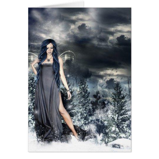 Tarjeta de la hada de la nieve
