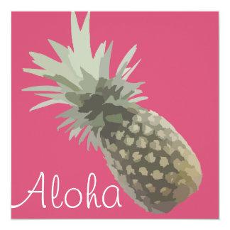 Tarjeta de la hawaiana invitación 13,3 cm x 13,3cm