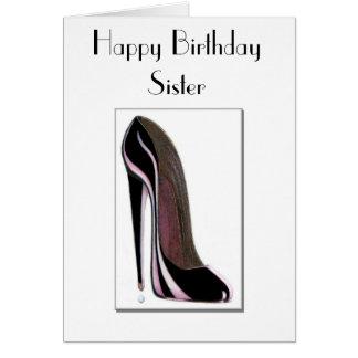 Tarjeta de la hermana del cumpleaños