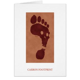 Tarjeta de la huella del carbono