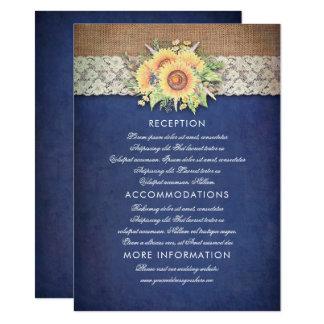 Tarjeta de la huésped de la información del boda