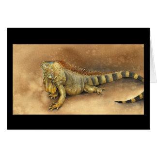 Tarjeta de la iguana de Cozumel