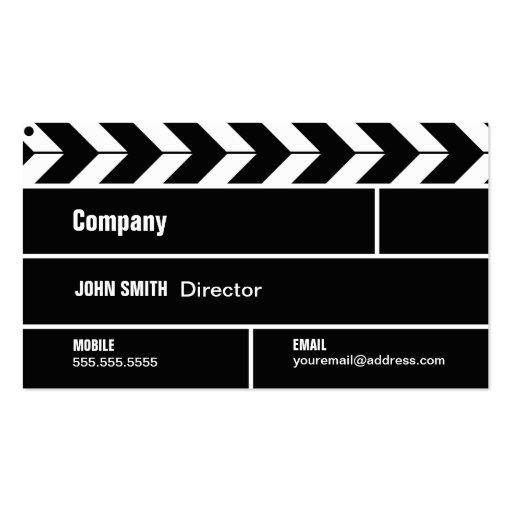 Tarjeta de la industria cinematográfica de directo plantilla de tarjeta de visita