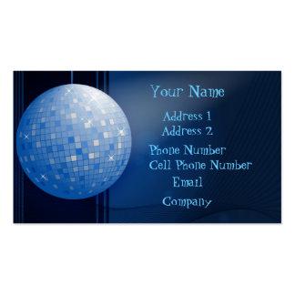 Tarjeta de la industria musical - bola de discotec tarjeta de visita