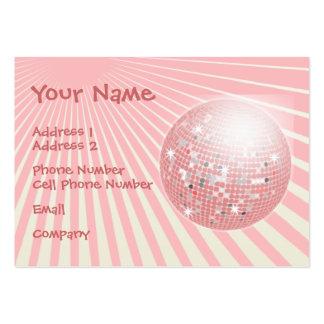 Tarjeta de la industria musical - bola de discotec tarjetas de visita grandes
