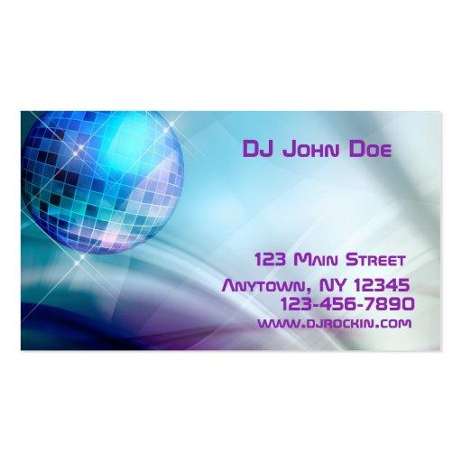 Tarjeta de la industria musical de la bola de disc tarjeta de visita