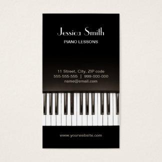 Tarjeta de la industria musical del piano