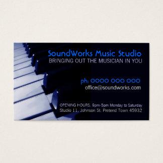 Tarjeta de la industria musical del teclado de