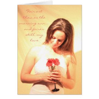 """Tarjeta de la """"inocencia y de la belleza"""""""