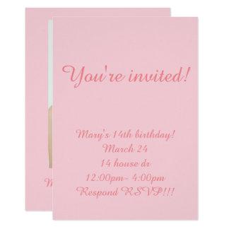 Tarjeta de la invitación