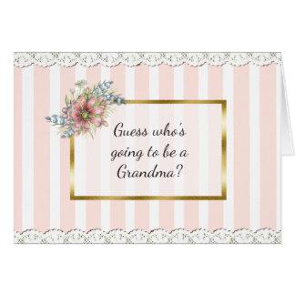 Tarjeta de la invitación de la abuela