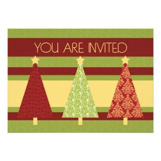Tarjeta de la invitación de la cena de navidad de