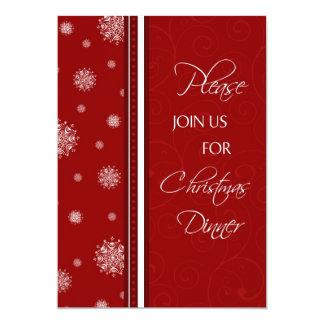 Tarjeta de la invitación de la cena de navidad de invitación 12,7 x 17,8 cm