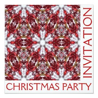 Tarjeta de la invitación de la fiesta de Navidad -