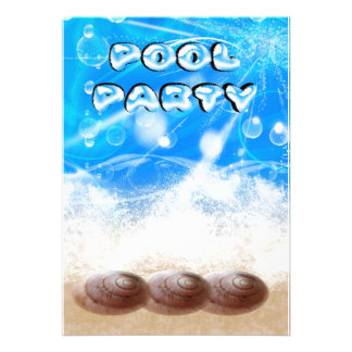 tarjeta de la invitación de la fiesta en la piscin