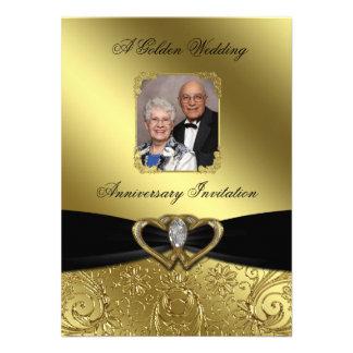 Tarjeta de la invitación de la foto del aniversari