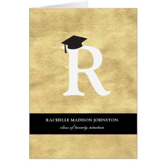 Tarjeta Tarjeta de la invitación de la graduación del