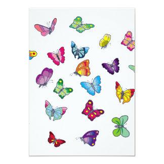 tarjeta de la invitación de la mariposa