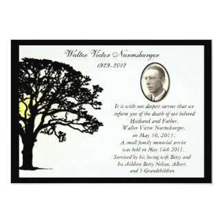 Tarjeta de la invitación de la muerte de la foto