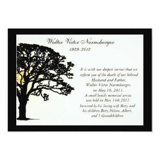 Tarjeta de la invitación de la muerte del árbol de invitación 12,7 x 17,8 cm