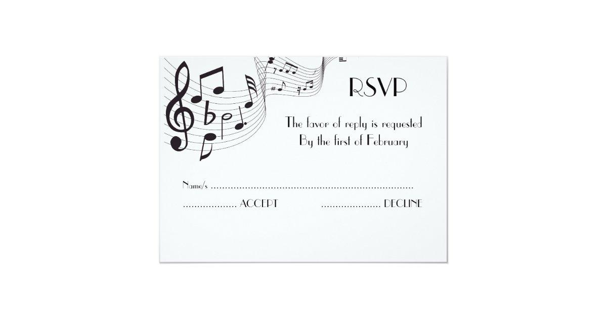 Tarjeta de la invitación de la nota musical | Zazzle