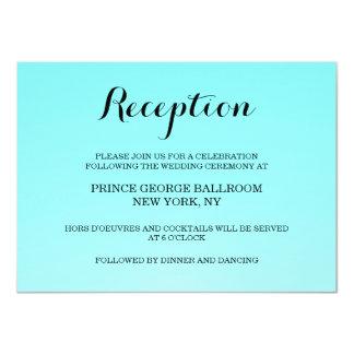 Tarjeta de la invitación de la recepción del