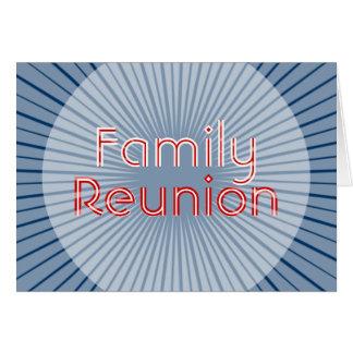Tarjeta de la invitación de la reunión de familia