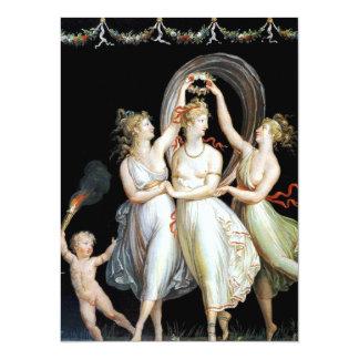 Tarjeta de la invitación de las mujeres del baile