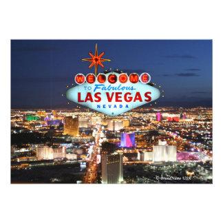 Tarjeta de la invitación de Las Vegas