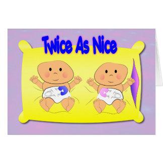 Tarjeta de la invitación de los gemelos
