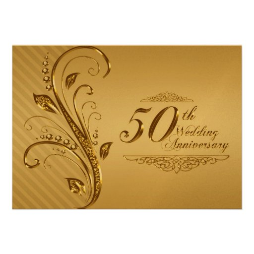 Tarjeta De La Invitaci  N Del Aniversario De Boda D De Zazzle Es
