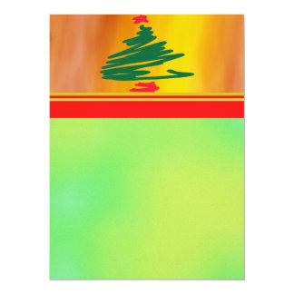 Tarjeta de la invitación del árbol de navidad