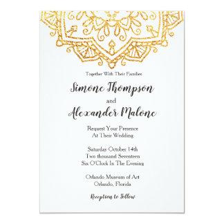 Tarjeta de la invitación del boda de la mandala
