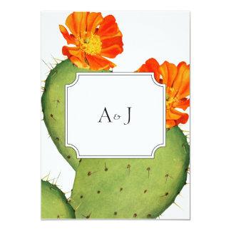 Tarjeta de la invitación del boda del cactus invitación 12,7 x 17,8 cm