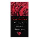 Tarjeta de la invitación del boda del rosa rojo tarjetas fotograficas personalizadas
