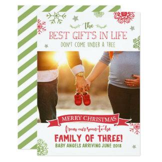 Tarjeta de la invitación del embarazo de las
