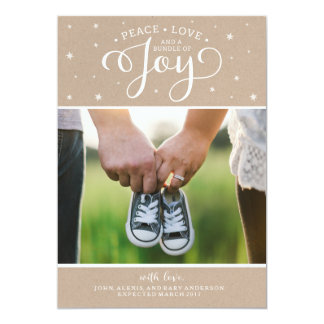 Tarjeta de la invitación del embarazo del navidad