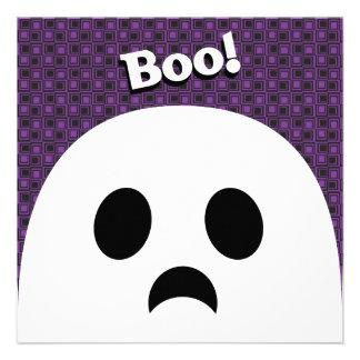 Tarjeta de la invitación del fantasma de Halloween