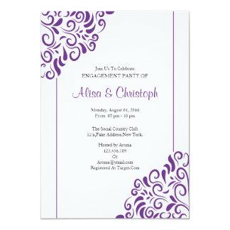 Tarjeta de la invitación del fiesta de compromiso
