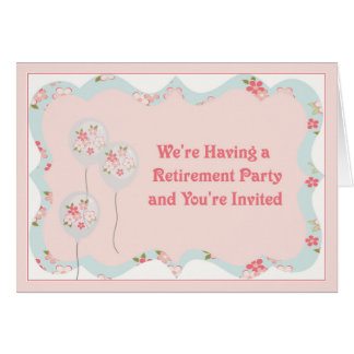 Tarjeta de la invitación del fiesta de retiro,